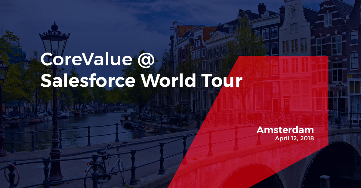 CoreValue is a Gold Sponsor at Salesforce World Tour in Amsterdam 33