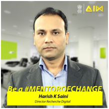 Harish K Saini From Recherche Digital Is Chosen As Mentor Of Change By NITI Aayog In AIM