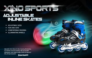 Xino Sports Releases its own Brand of Illuminated Inline Skates for Children 2