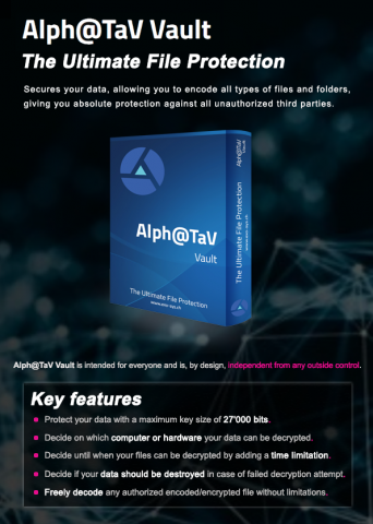 Ex0-SYS Alph@TaV Vault offers the ultimate level of digital file protection 18