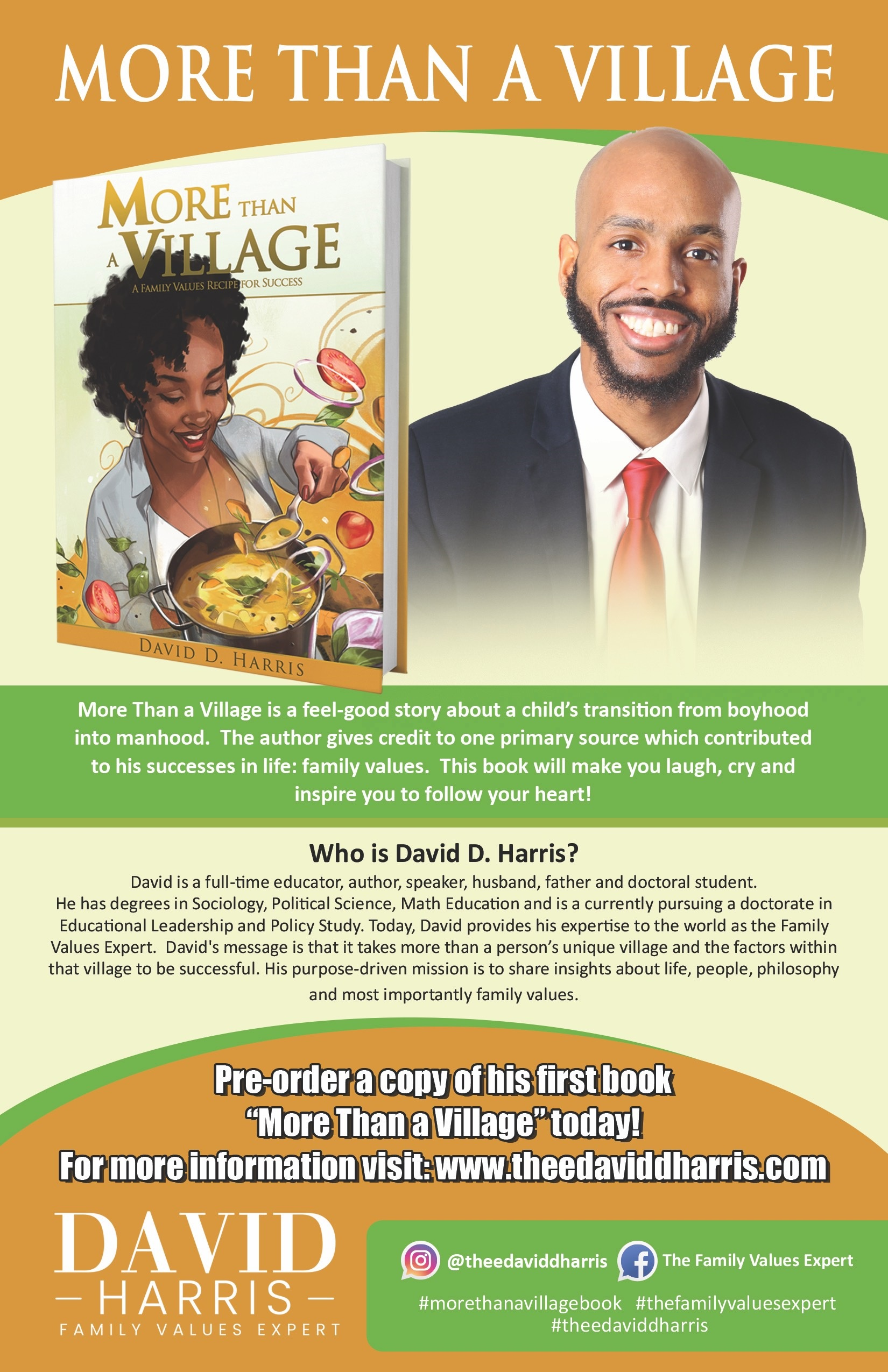 David D. Harris to Release The Ultimate Guidebook on Family Values 6