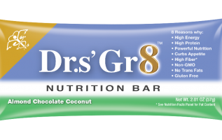 Drs Gr8 Bar is now offered Nationwide Through Mr. Checkout's Direct Store Delivery Distributors. 2