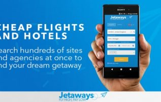 Jetaways app allows users to find the best travel deals from over a thousand airlines and a million accommodations 3