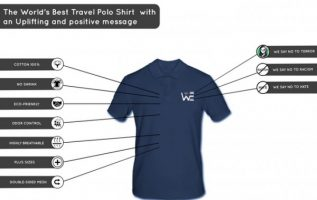 This Polo shirt keeps the wearer comfortable while sharing an important message 3