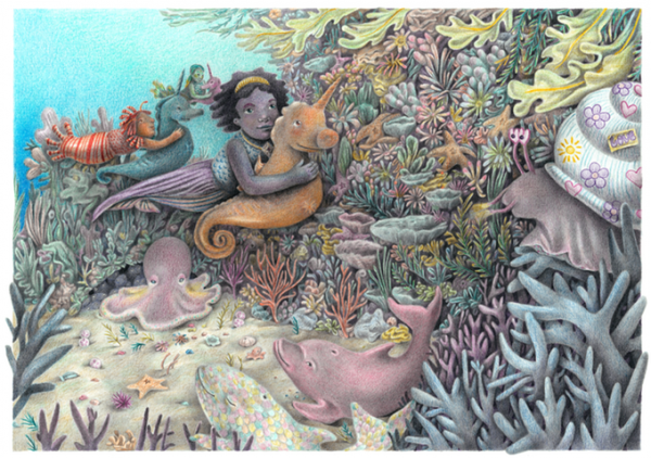 New and innovative book series about mermaid yoginis aims to promote psychological and emotional growth and self-awareness in children with empowering content that is creative and unconventional 1