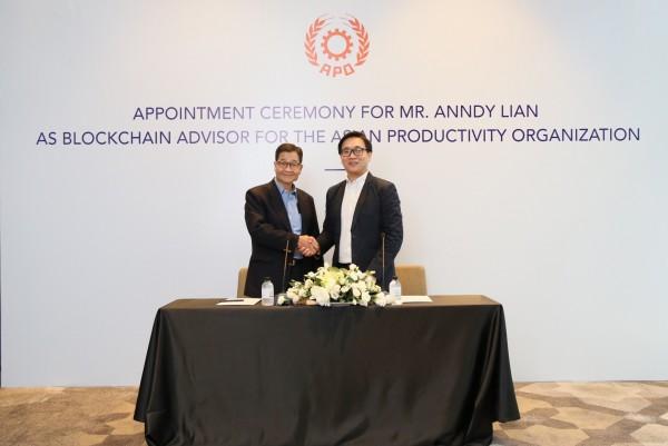 Mr. Anndy Lian Appointed as Blockchain Advisor to Asian Productivity Organization (APO) 4