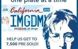 Iconic Legacy and Michael Towner Announce Free sign Up for the California Imagine No Hunger license plate to Celebrate Hunger Action Month and John Lennon's 79th Birthday. 4