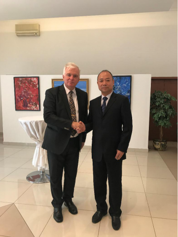 """Famous Anthropologist Hu Jiaqi Invited to Attend """"Slovak Embassy National Day and Armed Forces Day Reception"""" 2"""