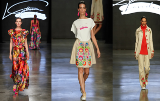 Strong colours, ruffles, flower motifs and many others for Spring Summer 2020 – L. Catherine London during New York Fashion Week 4