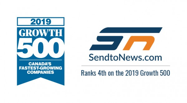 SendtoNews ranked as Canada's 4th Fastest Growing Company on Canadian Business's Growth 500 1