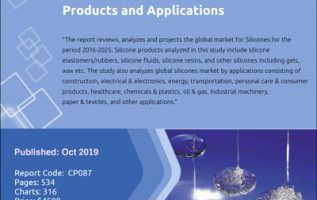 Global Silicones Market is Projected to Exceed 3 Million Metric Tons by 2025 – Market Report (2019-2025) by Industry Experts, Inc. 4