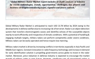 Key Opportunities and Challenges in the Military Radars Market 2