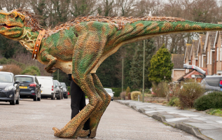 Want to Interact with the Walking Dinosaur Costumes? 5