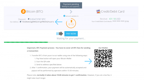 Paybis adds direct Bitcoin to Credit/Debit Card transfers 5