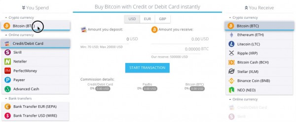Paybis allows users to sell their Bitcoin and receive funds on their card 12