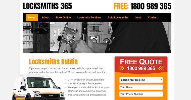 Locksmiths365 is a Reliable and Trusted Locksmith Company based in Dublin 1