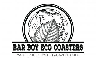 Bar Boy Eco Coasters Recycles Used Amazon Boxes into Redesigned Eco-Friendly Drink Coasters 4