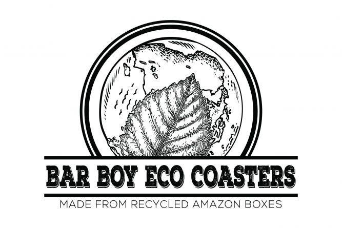 Bar Boy Eco Coasters Recycles Used Amazon Boxes into Redesigned Eco-Friendly Drink Coasters 1