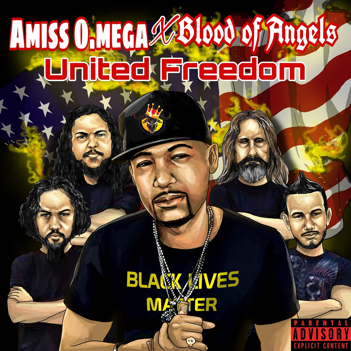 Blood of Angels & Hip-Hop Artist Amiss O.Mega collaborate for the song 'United Freedom' 1