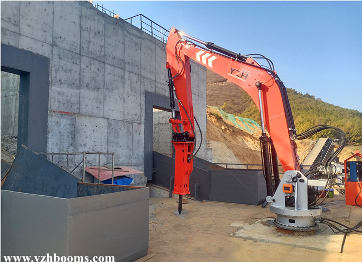 A Pedestal Boom System Can Simultaneously Break Boulders Which Blocked The Hopper Of Two Jaw Crushers 1