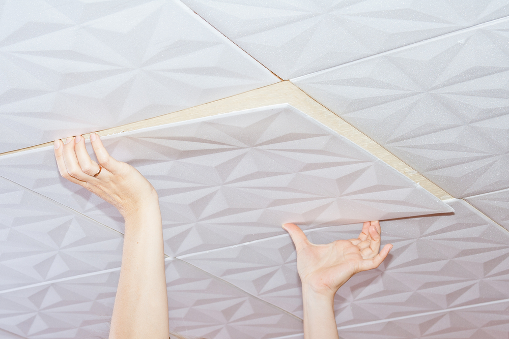 Ceiling Tiles Make Rooms Offer Beautiful Look 1