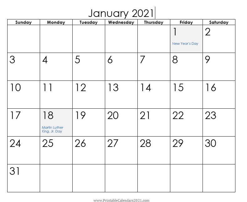 Planning a meeting and day is more productive with Printable Calendars 2021 1