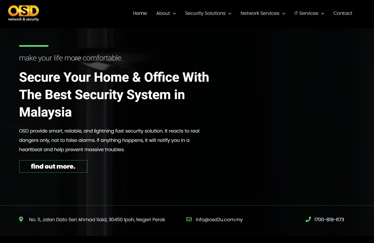 OSD Network & Security, Malaysia Announces the Launch of Its New Website 1