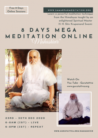 'Guru Tattva' Sets Out to Help the World Achieve Bliss By Offering 8 Days Online Mega Meditation 2