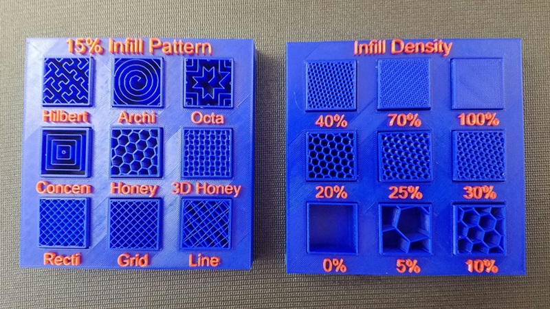 Infill Percentage and Pattern