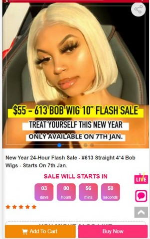 West Kiss Upcoming 613 Wig Flash Sale For New Year 5