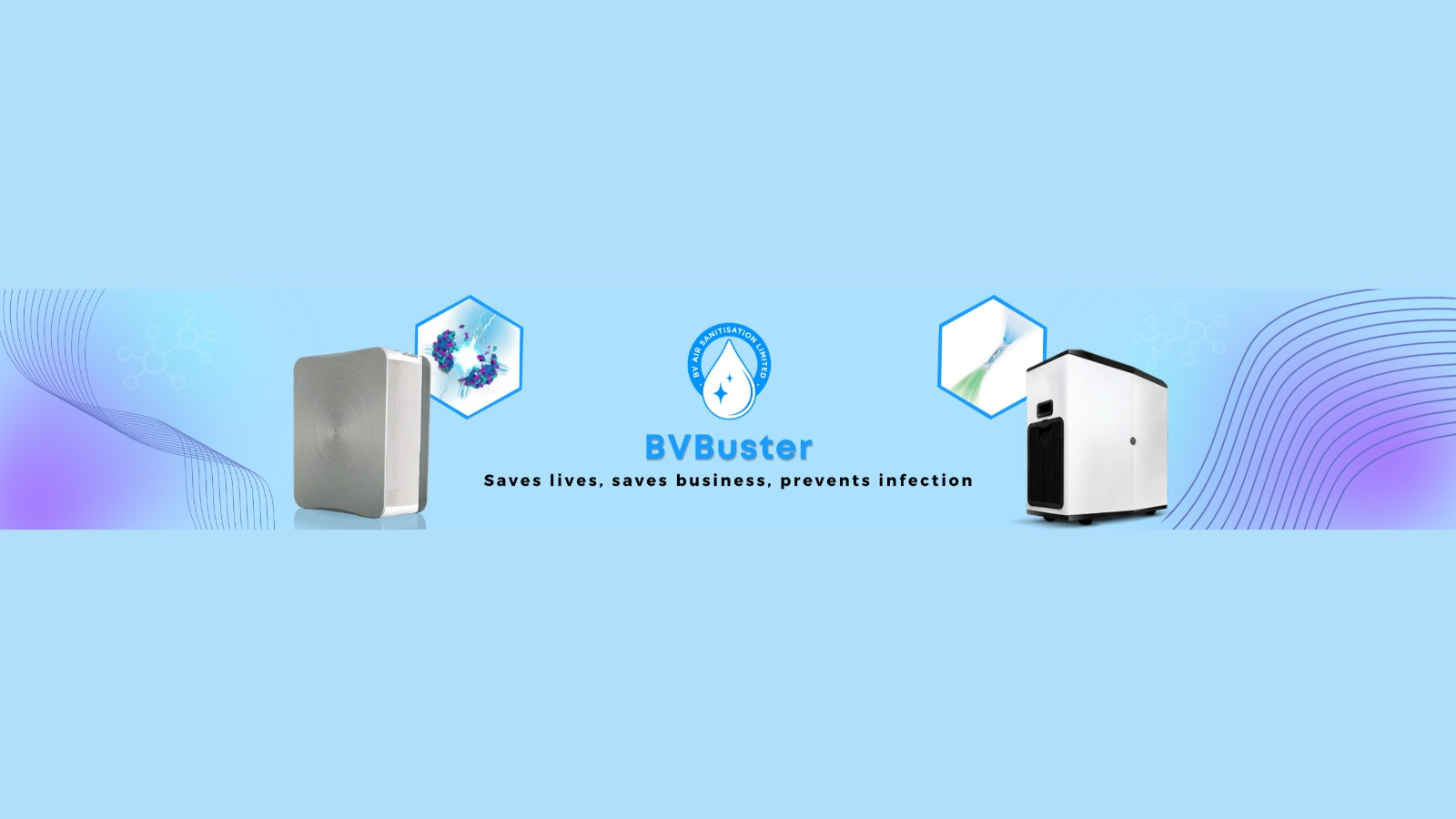 BV Buster Introducing Game-Changing Air Disinfection and Sanitization Systems to Save Lives, Save Businesses and Prevent Infection. 1