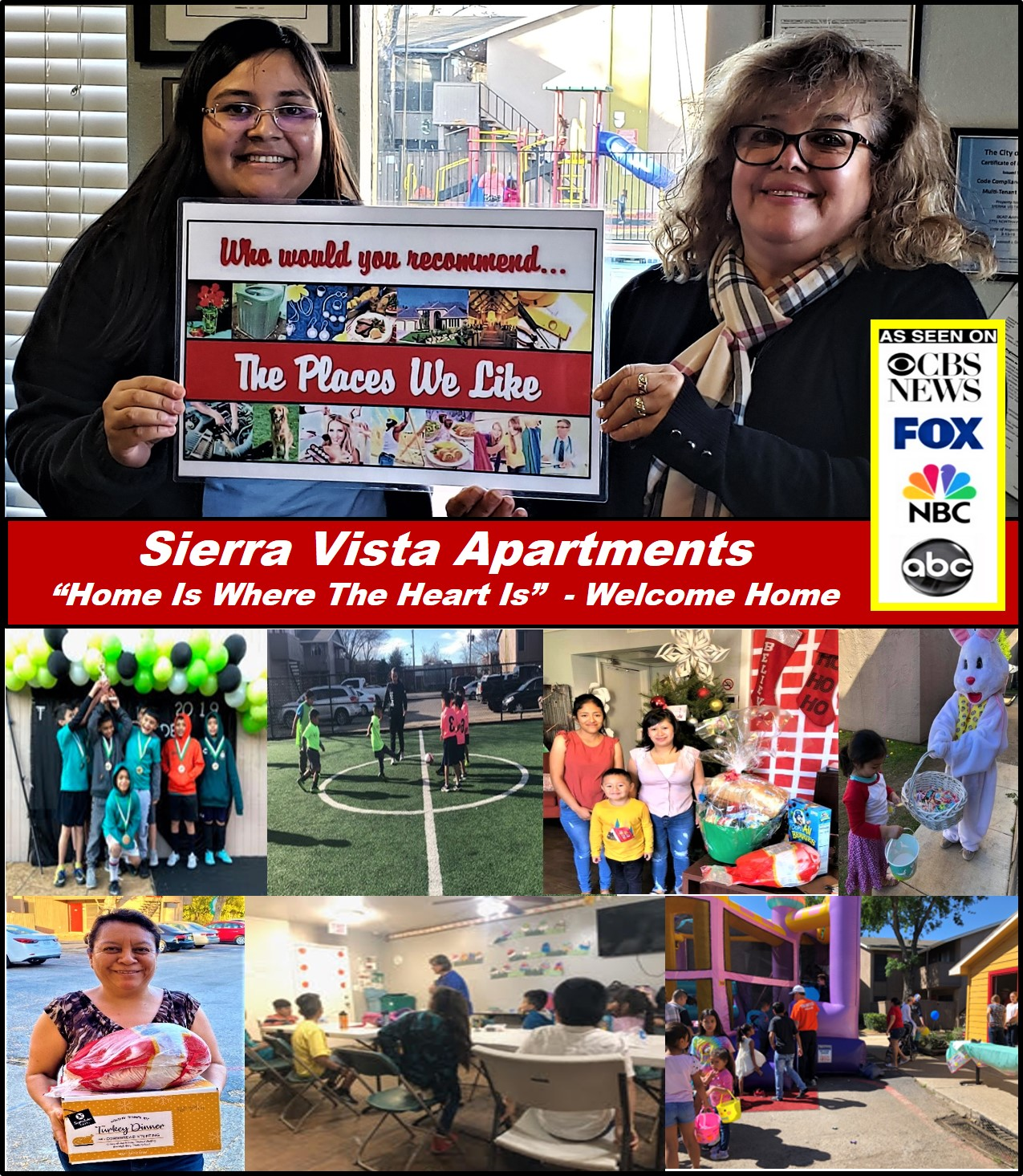 """Sierra Vista Apartments In Dallas Texas Was Just Recognized By """"The Places We Like In Dallas"""" As A Premier Living Community Whose #1 Priority Is The Family 1"""