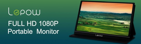 Explore Truly Immersive Viewing Experience with Lepow Z1 Portable Monitor 1