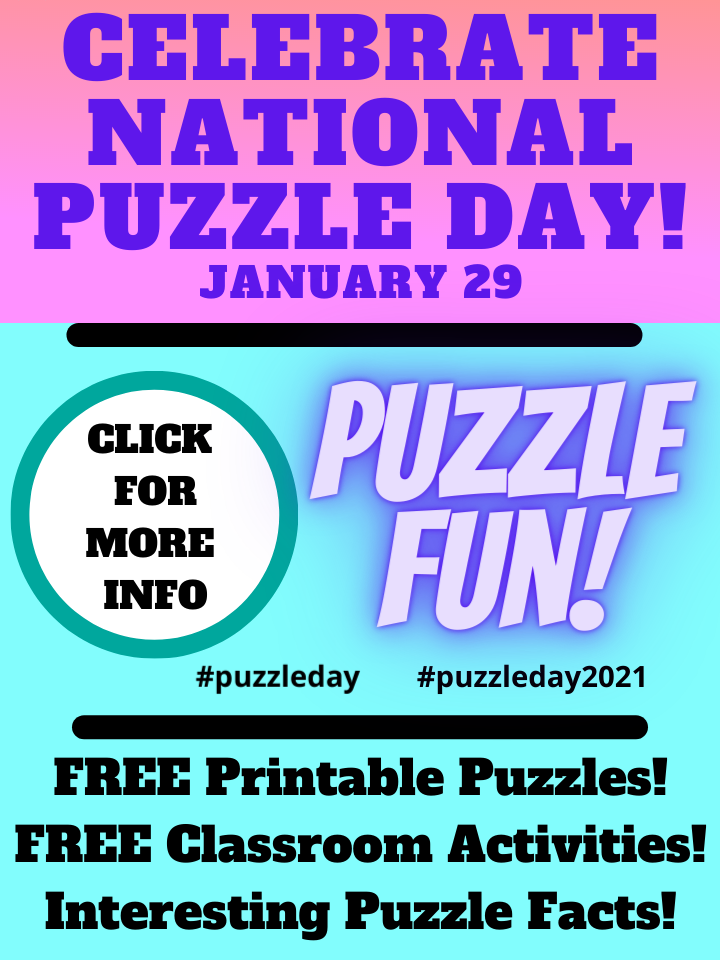 Celebrate National Puzzle Day – January 29, Puzzle Lovers Join In Puzzle Fun 1