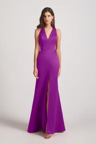 Top 5 Satin Bridesmaid Dresses from Alfabridal 1
