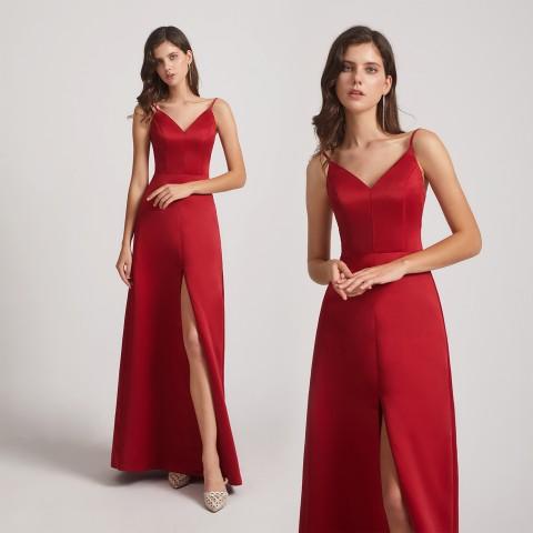 Top 5 Satin Bridesmaid Dresses from Alfabridal 2