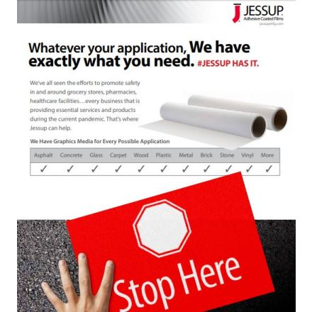 Jessup Manufacturing Safety Track Tape Helps Supports Businesses Social Distancing Efforts 1