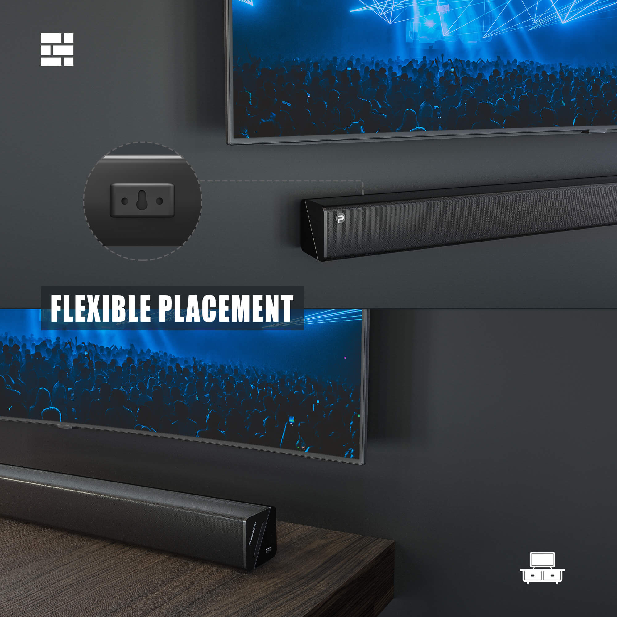 Pheanoo Audio Ltd Launches 2.1CH Sound Bar Systems with Subwoofer For Home Theater 19
