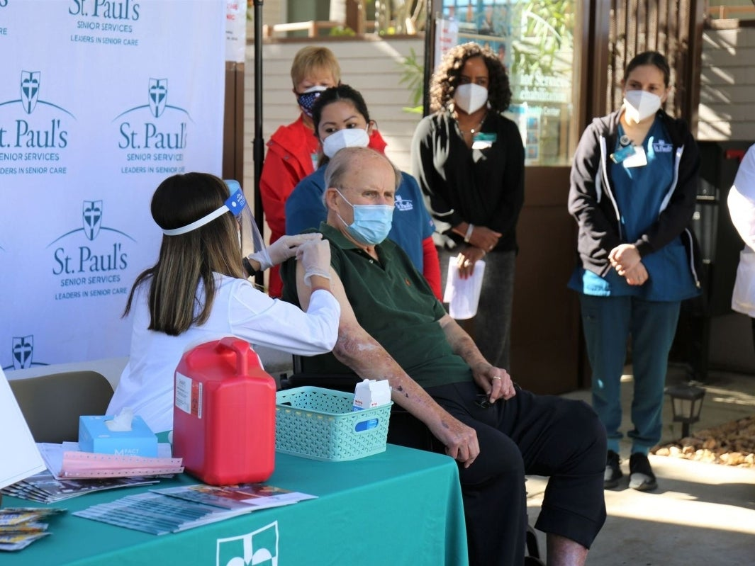 St. Paul's Senior Services Hosts COVID-19 Vaccination Clinics for its Senior Residents & Essential Staff 4
