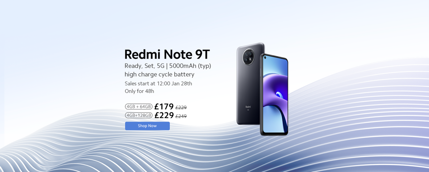 Xiaomi announces Redmi Note 9T for UK, bringing premium innovation and 5G speeds 1