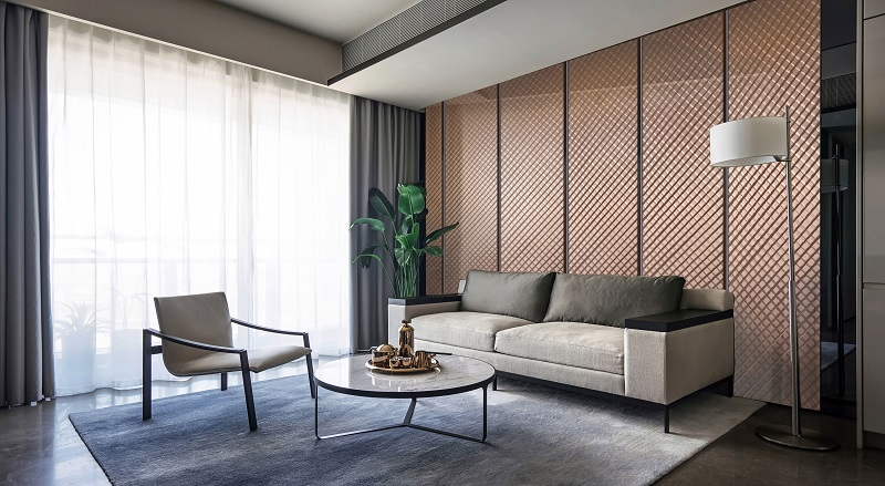 Three-Dimensional Surfaces Metal Wall Panel Redefine Modern Interior Decor 1