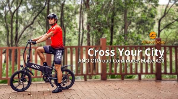 ADO Debutes Off-road Commuter e-bike A20 to Conquer All Urban Terrains 6
