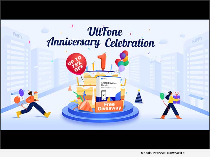 UltFone Celebrates its One-Year Anniversary with Giveaways and Online Surprises 1