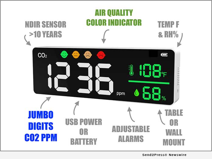 Jumbo CO2 Monitor for Indoor Air Quality Tracking 1