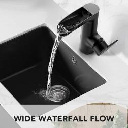 WaterSong Bathroom Sink Faucet & Waterfall Basin Faucet with Special Features 8