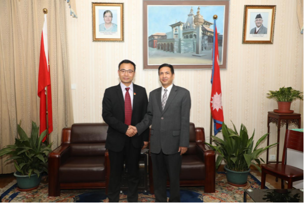 Sun Telecom International Business CEO Tin Xiong Visited the Economic Minister of the Embassy of Nepal in China 1