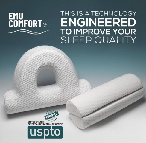 A Leading provider of innovative sleeping solutions, Emu Comfort™ continues to receive accolades for its contoured and multi-use pillows. 2