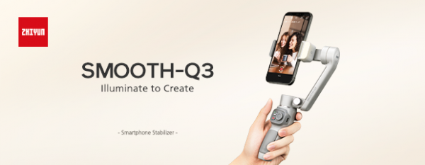 Illuminate to Create: ZHIYUN Presents SMOOTH-Q3 Gimbal to Light up Your Videos 1
