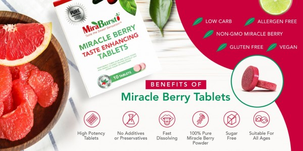 MiraBurst Sweetens Foods and Drinks without Sugars or Sweeteners 1