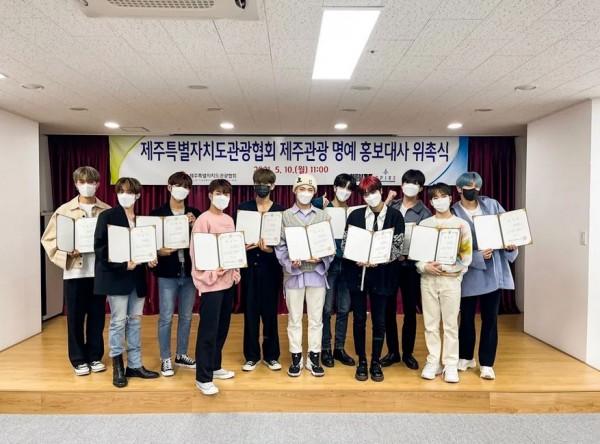 Boy Group Omega X Is the New Honorary Ambassador of Jeju Island 1